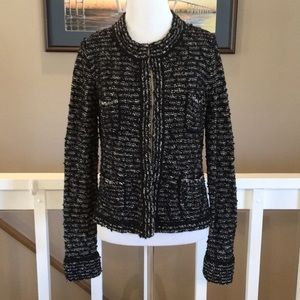 NWT LOFT black/white cardigan/jacket Size M
